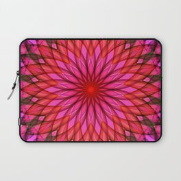 Pink,red and fuchsia color mandala Laptop Sleeve