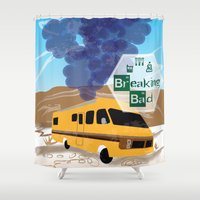 lab Shower Curtains featuring Breaking Bad Lab by famenxt