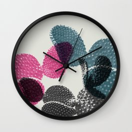 Tri-color cactus Wall Clock