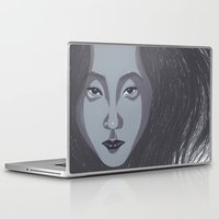 no face Laptop & iPad Skins featuring Face by Ariel Ni-Wei Huang