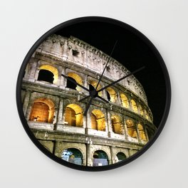 Il Colosseo - The Coliseum at Night (Rome, Italy) Wall Clock