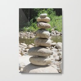Tall Rock Stack Metal Print