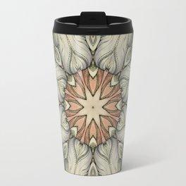 abstract flowers hand drawn and  kaleidoscope mandala Travel Mug