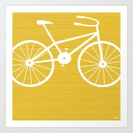 Yellow Bike by Friztin Art Print