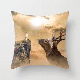 Big Venado Throw Pillow