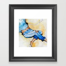 Jeans Beach Bum Framed Art Print