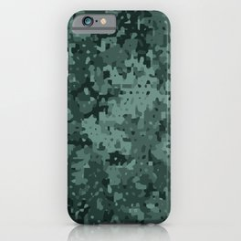 Green Micro Camo (Camouflage) Pattern iPhone Case