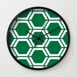 Dartmouth green - green - Geometric Polygon Pattern Wall Clock