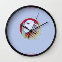 castlevania Wall Clocks featuring VAMPIRE KILLER - CASTLEVANIA - JOJO by Mirco Greselin