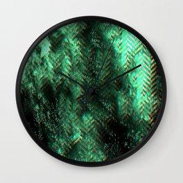 PRETTY CHAOTIC HERRINGBONES Wall Clock