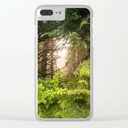 The Light Within - Beauty in the Washington Rain Forest Clear iPhone Case