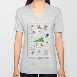 Virginia Wildflowers Unisex V-Neck