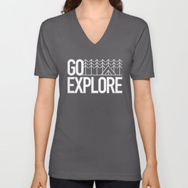 Go Explore Unisex V-Neck