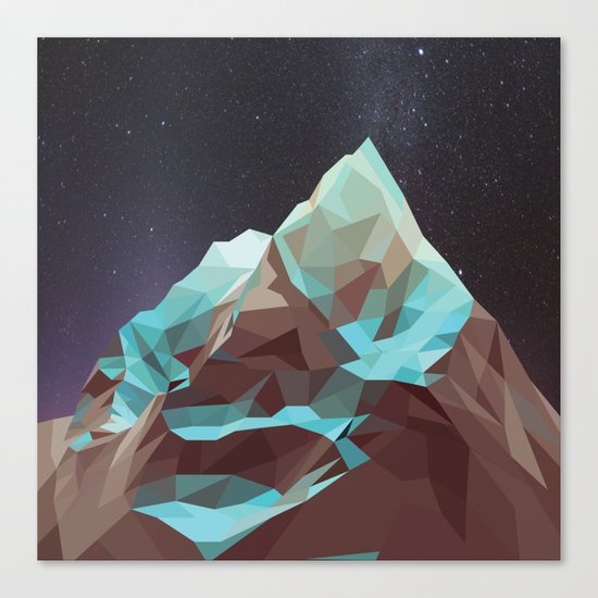 Night Mountains No. 5 Canvas Print
