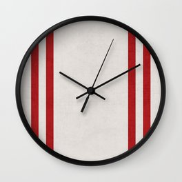 french linen - red Wall Clock