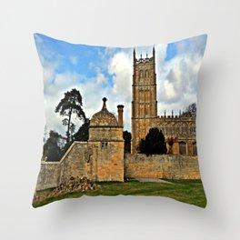 St James Church. Chipping Campden Throw Pillow