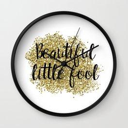 Beautiful little fool - golden jazz Wall Clock