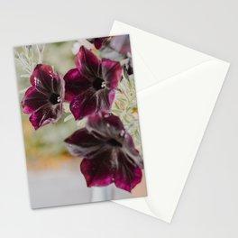 Purple Garden Flowers Stationery Cards
