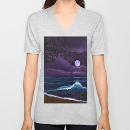 Romantic Kauai Moonlight Unisex V-Neck