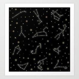 Western Zodiac Constellations Art Print