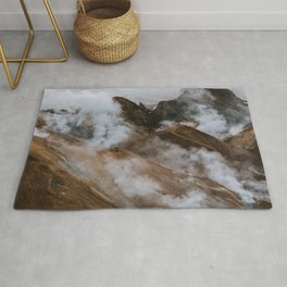 Kerlingjarfjöll smoky Mountains in Iceland - Landscape Photography Rug