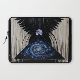 Between the Worlds // Visionary Art Woman Goddess Feminine Earth Moon Planets Stars Laptop Sleeve