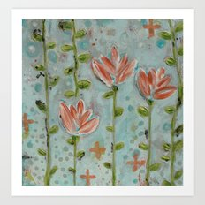 Flowering vines Art Print