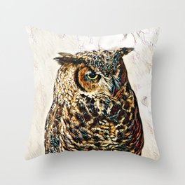 Tiger Of The Air Throw Pillow