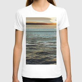 sunset at seagate T-shirt