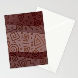 ETHNO PATTERN Modern | red Stationery Cards