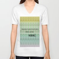 oasis V-neck T-shirts featuring Wonderwall - Oasis by Paxton Keating
