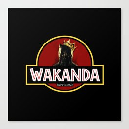 wakanda black panther Canvas Print