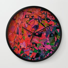 art print new color love cute 2018 style artist hot cute red colour fun printed Wall Clock