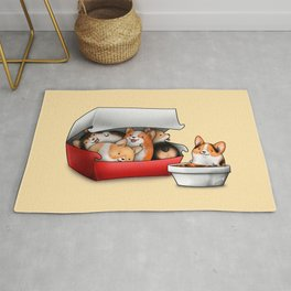 Corgi Nuggets Rug