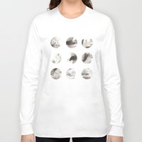 moon phases Long Sleeve T-shirts featuring Moon phases by Dreamy Me