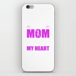 Gymnastics Moms Full Heart Mothers Day T-Shirt iPhone Skin