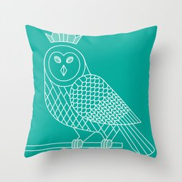 smart owl 3 Throw Pillow