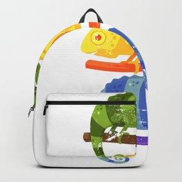 Retro Chameleon Backpack