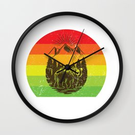 GTFO of my woods cool bear hiking nature preservation Wall Clock