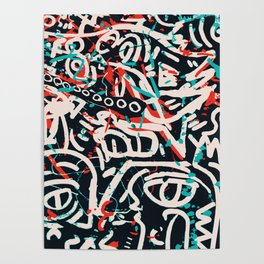 Street Art Pattern Graffiti Post Poster