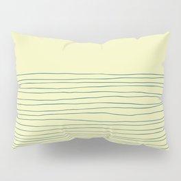 Hand Striped Lemon Blue Pillow Sham