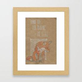 MAKING ME FELL Framed Art Print