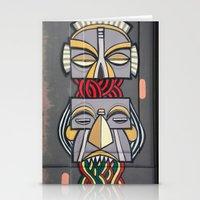 totem Stationery Cards featuring Totem by Sébastien BOUVIER
