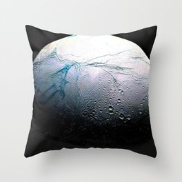 Saturn's moon Enceladus Space Mission Fly-by Photograph No. 3 Throw Pillow