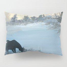 Misty Morning Mustang Pillow Sham