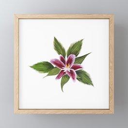 Gouache flower painting II Framed Mini Art Print