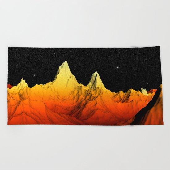 Sci Fi Mountains Landscape Beach Towel