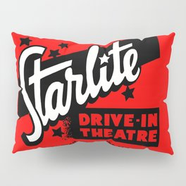 Starlite Drive In Red Pillow Sham