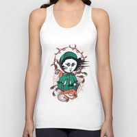 writer Tank Tops featuring Emily Brontë Holy Writer by roberto lanznaster
