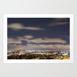 City Lights. Art Print